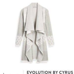 Evolution By Cyrus Open Draped Front Cardigan XXL
